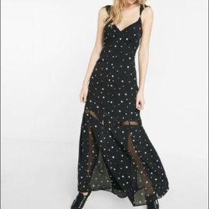 NWOT Express star maxi dress